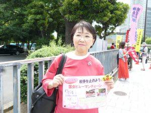 東京・生活者ネットワーク都議会議員[杉並]の小松久子も参加。首相官邸前で
